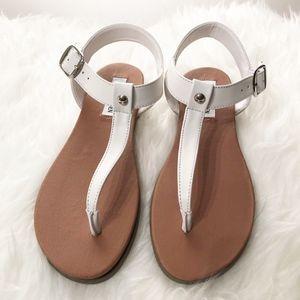 3f139a17e75 NEW Steve Madden Chaya White Leather Sandal Size 8 NWT